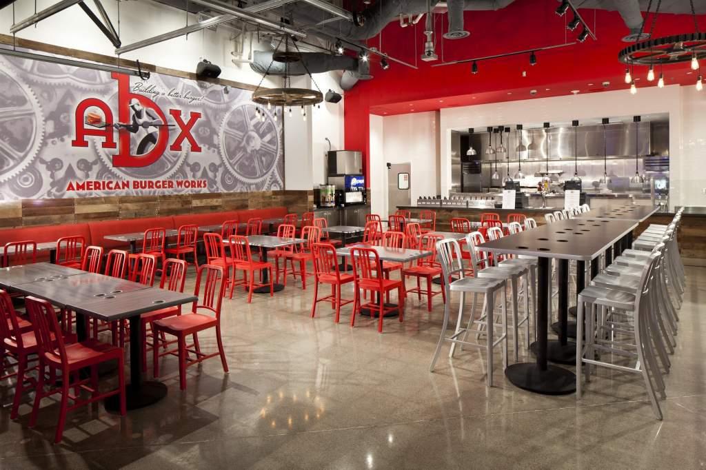 American Burger Works Restaurant Abx Las Vegas 1 Commercial Interiors Restaurants