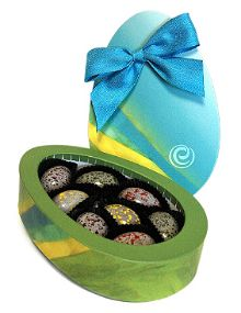 This year's ethel's Chocolate Egg Collection features eight spring