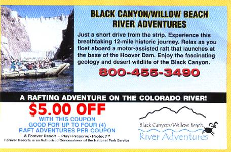 Black Canyon Willow Beach River Rafting Adventures. Relax as you float aboard a motor-assisted raft that launches at the base of the Hoover Dam