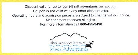 A Rafting Adventure on the Colorado River. Enjoy the fascinating geology and desert wildlife of the Black Canyon.