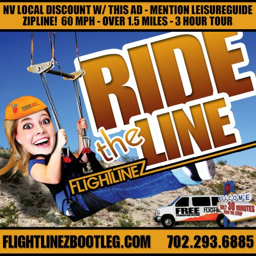 Flightlinez discount coupon for $5 off admission at Fremont Street