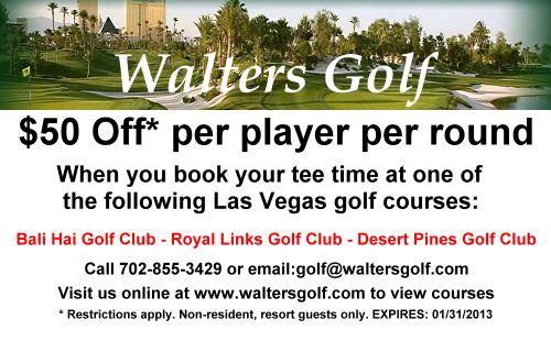 Las vegas golf discount coupons