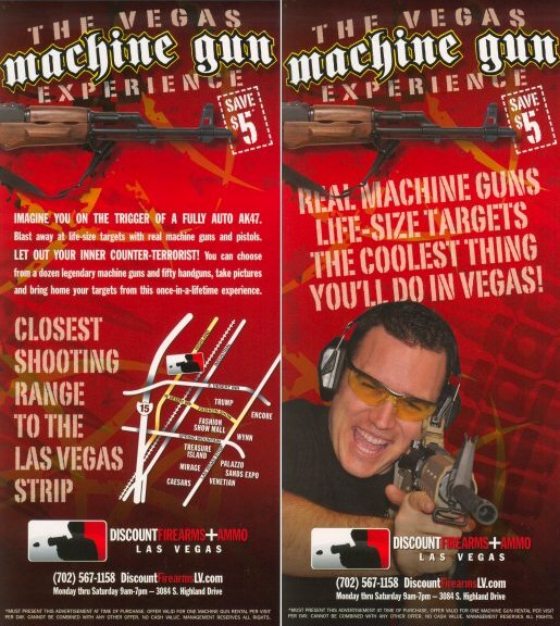 The Vegas Machine Gun Experience - Discount Coupon - $5 off
