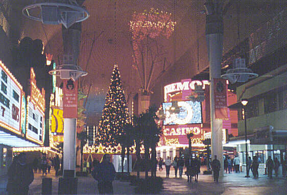 Fremont Street before Christmas
