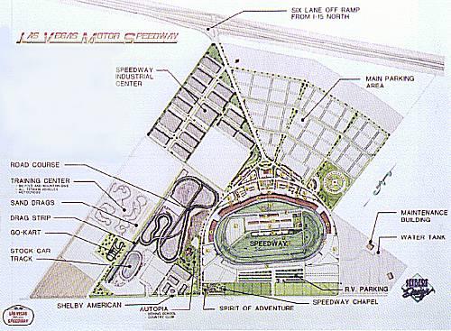 Las vegas motor speedway pre construction 1996 for Las vegas motor speedway seating map