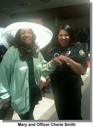 Mary Wilson and Officer Cherie Smith